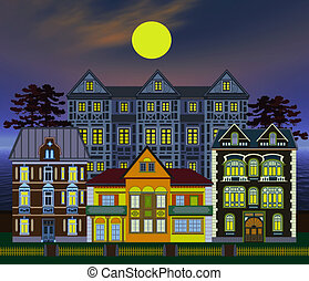 Haunted houses, very elaborate and decorative, great for...