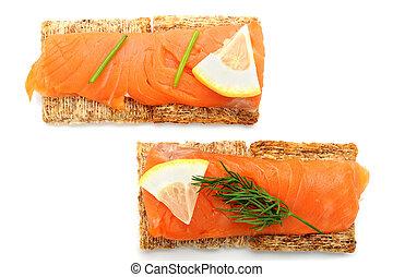 Smoked Salmon Snacks