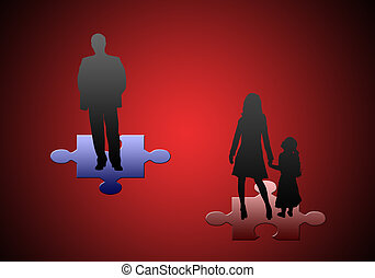 Family relations - This image - a symbol (difficult mutual...