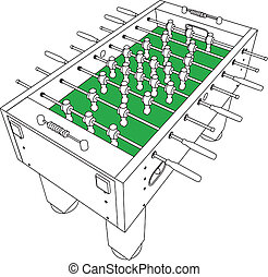 Table Football And Soccer Perspective Vector