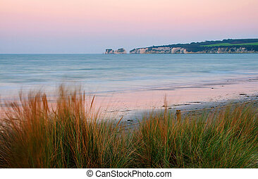 Old Harry Rocks, start of the UNESCO Jurassic Coastline -...
