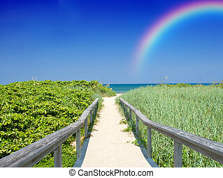 arco íris, férias