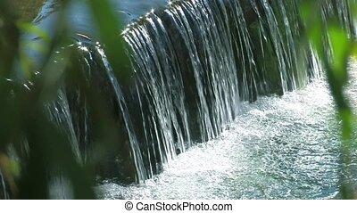 Little waterfalls in a peaceful