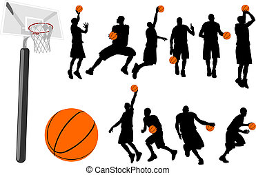 Basketball vector set