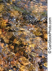 Creek Riffle background - A calm creek riffle in northern...