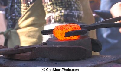 Hard work in Blacksmith Shop, closeup, Canon XH A1, 1080p,...