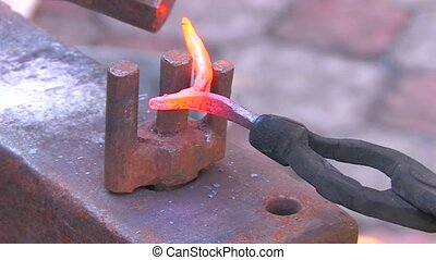 blacksmith work, closeup