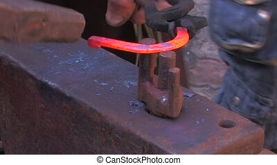 Traditional blacksmith at work