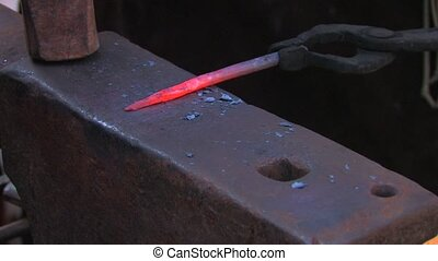 blacksmith work, closeup - Traditional blacksmith work,...