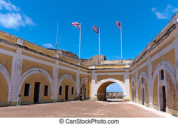 El Morro Fort Interior - The interior of El Morro fort...