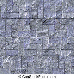 Slate Stone Wall Texture - Seamless slate stone wall or path...