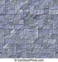 Slate Stone Wall Texture - Seamless slate stone wall or path...