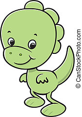 Cute dinossaur cartoon - Green dino cartoon