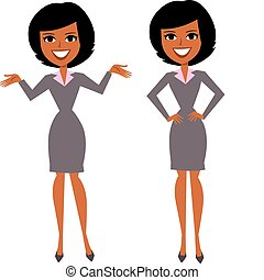 Professional woman cartoon
