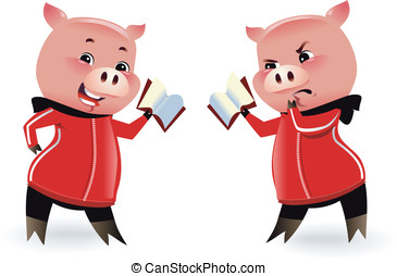 Two Pigs - Pigs illustration