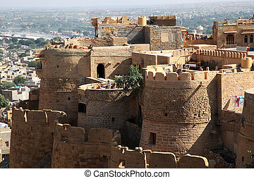 Jaisalmer Fort Rajasthan - view at the Fort Jaisalmer in...