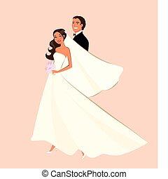 Wedding Couple - Wedding couple illustration.