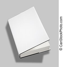 Blank book open cover w clipping path - Blank book open...