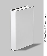 Blank book cover w clipping path - Blank book white cover w...