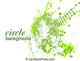 halftone circle - abstract halftone circle background with...