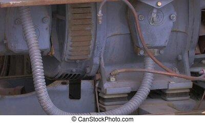 Broken-down equipment - Broken-down generator in repair...