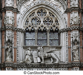 Doge Palace Venice - the entrance of the Doge's...