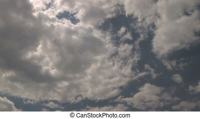 Flying clouds in Sky, timelapse