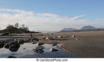 North Pacific beach. - Beautiful, barren beach with...