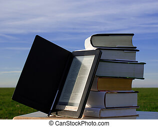 E-book reader and books
