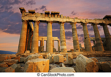 Parthenon, Greece - Ruins of the Parthenon on the Greek...