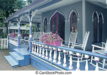 Porch on gingerbread house - Porch on an Old Country House -...
