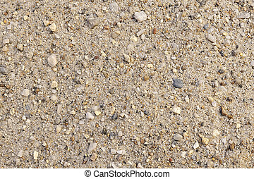 Detail of sand texture with small stones - background