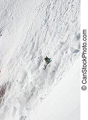 Freerider in avalanche - Freerider