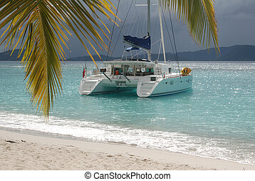 White Bay 3 - Sailboat at anchor in White Bay, Jost Van...