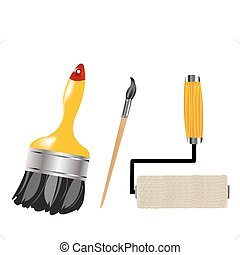 Tools for paint and drawing - Set tools for drawing and...