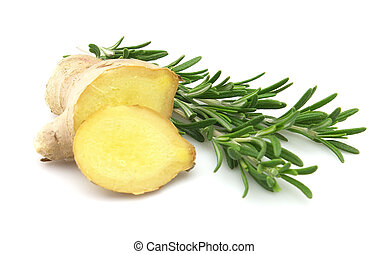 Ginger with rosemary