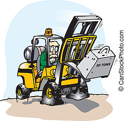 fork lift failure - A forklift lifting more than it can...