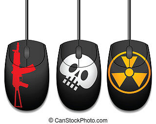 Computer mice with design in a vector