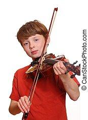 violín, jugador