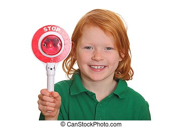 Young girl says stop