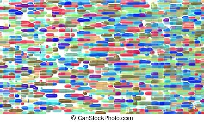 Color bricks array background