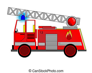 Fire engine - Vector of Fire Engine