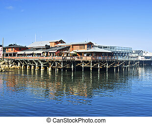 Monterey Pier - Many shops on the piers meet the many needs...