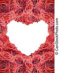 Valentine's card with red roses
