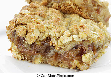 Date Bars - Delicious date bar made with oats and pitted...
