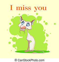 I miss you: illustration - I miss you: children's...