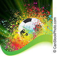 Soccer background with copyspace. EPS 8 vector file included