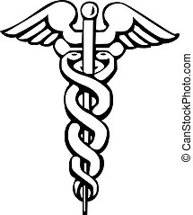 Caduceus, Greek sign or symbol - Caduceus, Greek sign,...