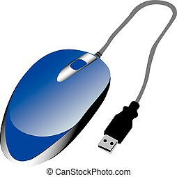 Blue USB Mouse