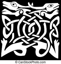 Celtic animal - A vector illustration of a Celtic animal...